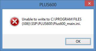 Ошибка записи при закрытии Plus600